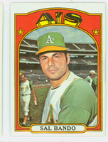 1972 Topps Baseball 650 Sal Bando Oakland Athletics Excellent to Mint