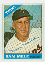 Sam Mele AUTOGRAPH d.17 1966 Topps #3 Twins CARD IS CLEAN VG/EX