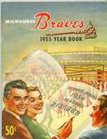 1955 Braves Yearbook Excellent Light wear on binding and cover, contents fine