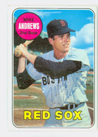 Mike Andrews AUTOGRAPH 1969 Topps #52 Red Sox CARD IS VG; AUTO CLEAN