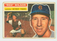 1956 Topps Baseball 92 Red Wilson  [SKU:Y56_T56BB_092aw2gvgrs]  Detroit Tigers Good to Very Good White Back