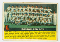 1956 Topps Baseball 111 Red Sox Team  [SKU:Y56_T56BB_111ag1fprs]  Fair to Poor Grey Back