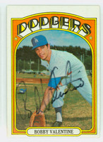 Bobby Valentine AUTOGRAPH 1972 Topps #11 Dodgers CARD IS POOR  [SKU:ValeB982_T72BBrs]