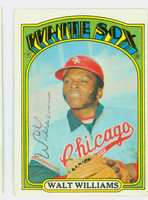 Walt Williams AUTOGRAPH d.16 1972 Topps #15 White Sox 