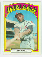 Ted Ford AUTOGRAPH 1972 Topps #24 Indians   [SKU:FordT985_T72BBrs]
