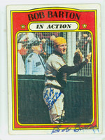 Bob Barton IA AUTOGRAPH d.18 1972 Topps In Action #40 Padres SIGNED TWICE  [SKU:BartB1411_T72BBIArs]