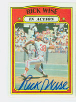 Rick Wise IA AUTOGRAPH 1972 Topps In Action #44 Phillies   [SKU:WiseR1667_T72BBIArs]
