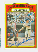 Bud Harrelson IA AUTOGRAPH 1972 Topps In Action #54 Mets   [SKU:HarrB1692_T72BBIArs]