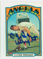 Clyde Wright AUTOGRAPH 1972 Topps #55 Angels   [SKU:WrigC1616_T72BBrs]