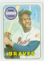 1969 Topps Baseball 100 Hank Aaron  [SKU:Y69_T69BB_100a_4vgers]  Atlanta Braves Very Good to Excellent