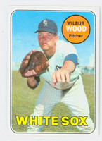 1969 Topps Baseball 123 Wilbur Wood  [SKU:Y69_T69BB_123a_4vgers]  Chicago White Sox Very Good to Excellent