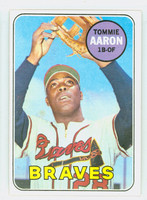 1969 Topps Baseball 128 Tommie Aaron  [SKU:Y69_T69BB_128a_4vgers]  Atlanta Braves Very Good to Excellent
