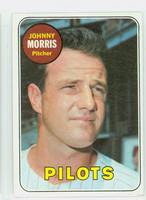 1969 Topps Baseball 111 Johnny Morris  [SKU:Y69_T69BB_111a_5exrs]  Seattle Pilots Excellent