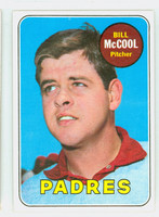 1969 Topps Baseball 129 Bill McCool  [SKU:Y69_T69BB_129a_6exmrs]  San Diego Padres Excellent to Mint