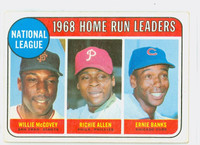 1969 Topps Baseball 6 NL HR Leaders  [SKU:Y69_T69BB_006a_2gvgrs]  Good to Very Good