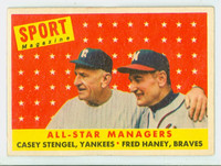 1958 Topps Baseball 475 All-star Managers  [SKU:Y58_T58BB_475a_2gvgrs]  Good to Very Good