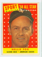 1958 Topps Baseball 479 Nellie Fox AS  [SKU:Y58_T58BB_479a_3vgrs]  Chicago White Sox Very Good