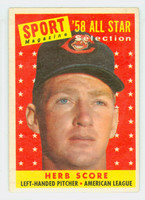 1958 Topps Baseball 495 Herb Score AS  [SKU:Y58_T58BB_495a_3vgrs]  Cleveland Indians Very Good