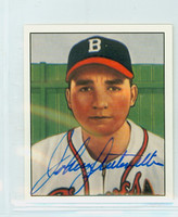 Johnny Antonelli AUTOGRAPH d.20 1950 Bowman Reprints Braves 