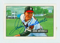 Johnny Antonelli AUTOGRAPH d.20 1951 Bowman Reprints Braves 