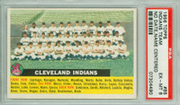 1956 Topps Baseball 85 b Indians Team CENTER