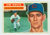 1956 Topps Baseball 102 Jim Davis  [SKU:Y56_T56BB_102ag5exprs]  Chicago Cubs Excellent to Excellent Plus Grey Back