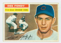 1956 Topps Baseball 112 Dee Fondy  [SKU:Y56_T56BB_112aw2gvgrs]  Chicago Cubs Good to Very Good White Back