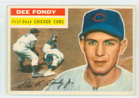 1956 Topps Baseball 112 Dee Fondy  [SKU:Y56_T56BB_112ag4vgers]  Chicago Cubs Very Good to Excellent Grey Back