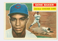 1956 Topps Baseball 142 Gene Baker  [SKU:Y56_T56BB_142ag4vgers]  Chicago Cubs Very Good to Excellent Grey Back