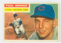 1956 Topps Baseball 182 Paul Minner Tough Series  [SKU:Y56_T56BB_182a_4vgers]  Chicago Cubs Very Good to Excellent