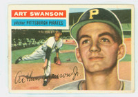 1956 Topps Baseball 204 Art Swanson Tough Series  [SKU:Y56_T56BB_204a_4vgers]  Pittsburgh Pirates Very Good to Excellent