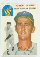1954 Topps Baseball 33 Johnny Schmitz