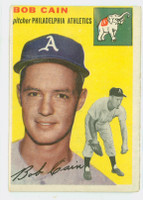 1954 Topps Baseball 61 Bob Cain Tough Series