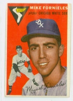 1954 Topps Baseball 154 Mike Fornieles  [SKU:Y54_T54BB_154a_3vgrs]  Chicago White Sox Very Good