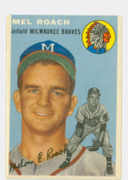 1954 Topps Baseball 181 Mel Roach  [SKU:Y54_T54BB_181a_4vgers]  Atlanta Braves Very Good to Excellent