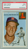 1954 Topps Baseball 66 Ted Lepcio Tough Series  [SKU:Y54_T54BB_066a_5p5rs]  Boston Red Sox PSA 5 Excellent