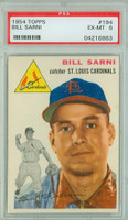 1954 Topps Baseball 194 Bill Sarni  [SKU:Y54_T54BB_194a_6p6rs]  St. Louis Cardinals PSA 6 Excellent to Mint