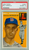1954 Topps Baseball 195 Bill Consolo  [SKU:Y54_T54BB_195a_6p6rs]  Boston Red Sox PSA 6 Excellent to Mint