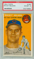 1954 Topps Baseball 199 Rocky Nelson  [SKU:Y54_T54BB_199a_6p6rs]  Cleveland Indians PSA 6 Excellent to Mint