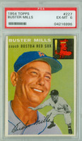 1954 Topps Baseball 227 Buster Mills  [SKU:Y54_T54BB_227a_6p6rs]  Boston Red Sox PSA 6 Excellent to Mint