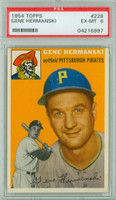 1954 Topps Baseball 228 Gene Hermanski  [SKU:Y54_T54BB_228a_6p6rs]  Pittsburgh Pirates PSA 6 Excellent to Mint
