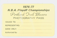 1976-77 Portland Trail Blazers NBA Playoffs Press Pass NBA Championship Season Bill Walton MVP Near-Mint to Mint