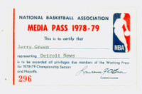 1978-79 NBA Playoffs Press Pass Detroit News Near-Mint to Mint