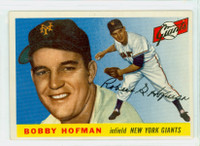 1955 Topps Baseball 17 Bobby Hofman  [SKU:Y55_T55BB_017a_5exrs]  New York Giants Excellent