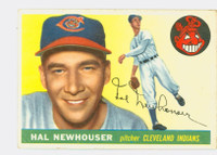 1955 Topps Baseball 24 Hal Newhouser  [SKU:Y55_T55BB_024a_5exrs]  Cleveland Indians Excellent