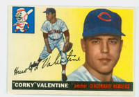 1955 Topps Baseball 44 Corky Valentine  [SKU:Y55_T55BB_044a_4vgers]  Cincinnati Reds Very Good to Excellent