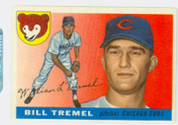 1955 Topps Baseball 52 Bill Tremel  [SKU:Y55_T55BB_052a_5exrs]  Chicago Cubs Excellent
