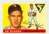 1955 Topps Baseball 32 Ed McGhee  [SKU:Y55_T55BB_032a_6exmrs]  Chicago White Sox Excellent to Mint