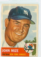 1953 Topps Baseball 77 John Mize