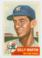 1953 Topps Baseball 86 Billy Martin Single Print